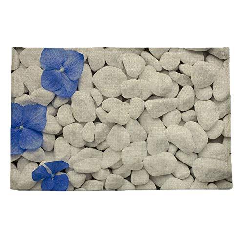 Stein muster druck leinen tischset untersetzern bremsbeläge schüssel pad topf esstisch matte wärmedämmung pad -