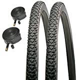Raleigh CST T1506 700 x 38c Pioneer Hybrid Road Bike Tyres with Schrader Tubes (Pair)