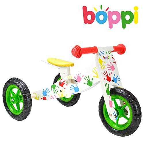 Tricycle de développement de l'équilibre 2-en-1 en bois boppi® - multicouleur