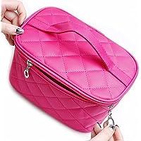 Portable toilet Travel Bag Lady Viaggiare Trucco Sacchetto dell'organizzatore cosmetico Contenitore Della cassa del sacchetto Scatola di alta capacità con manico e Mirror