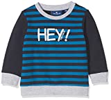 TOM TAILOR Kids Baby-Jungen Striped Sweatshirt Blau (Real Navy Blue 6593), 86