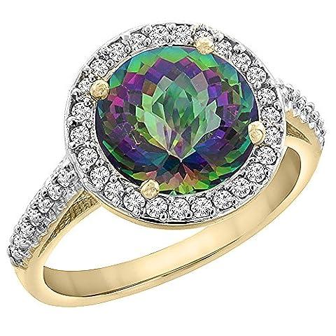 Revoni or jaune 585 or jaune 585/1000 (14 cts) Rond brillant Rond G-H Diamant FINERING
