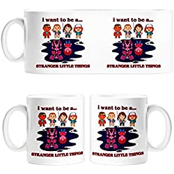 Taza Stranger Things I Want To Be A Stranger Little Things - Cerámica