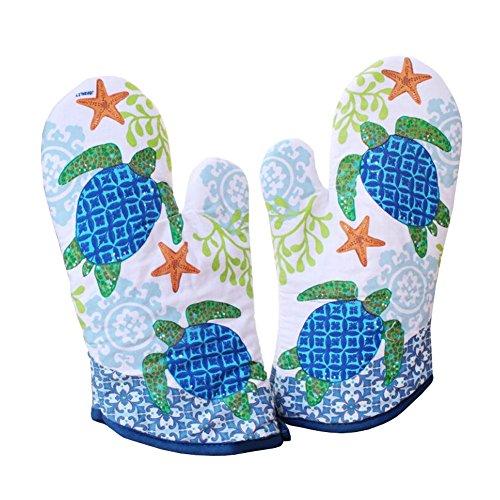 1 Paire Four professionnel Mitaines / Gants protéger votre main tortue verte