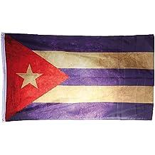Bandiera CUBA CUBANA VINTAGE LOOK 150 cm nuova bandiere