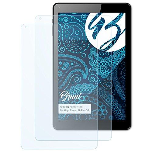 Bruni Schutzfolie kompatibel mit Odys Falcon 10 Plus 3G Folie, glasklare Bildschirmschutzfolie (2X)