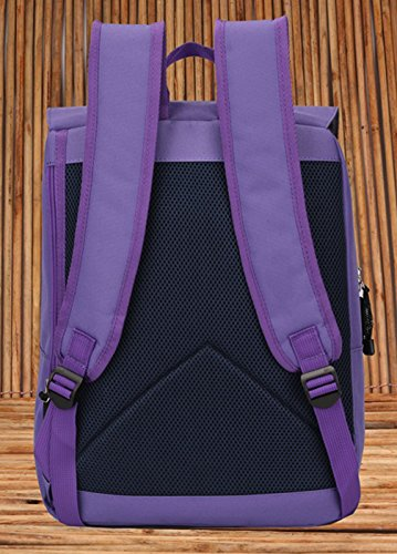 Keshi Leinwand neuer Stil Schulrucksäcke/Rucksack Damen/Mädchen Vintage Schule Rucksäcke mit Moderner Streifen für Teens Jungen Studenten Rot