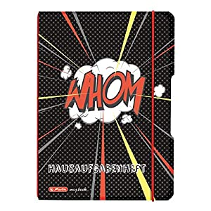 Flex Comic Exercise Book A5, 48 + 20 Sheets Squared, Polypropylene Interchangeable Cover in Comic Design