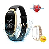SAVFY Fitness Tracker For Women Waterproof IP67 Sleep Monitoring Smart Watch Activity Tracker And Heart Rate Monitors For Android IOS Smartphone IPhone Samsung
