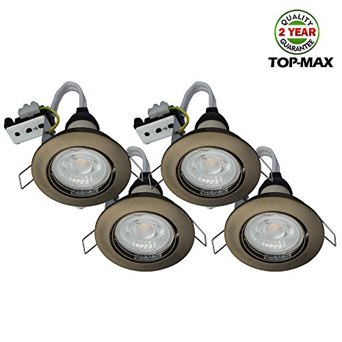 pack-of-4-top-max-led-recessed-gu10-spotlight-240v-mains-ceiling-lighting-downlight-fitting-antique-