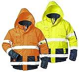 Safestyle - Warnschutz Pilotenjacken Hasso 0range/marine, zweifarbig, wasserdicht (XL)