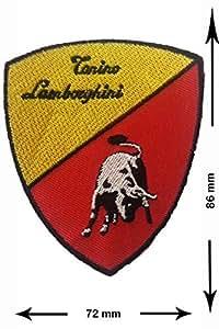 Lamborghini Cars Motorsport voiture de course équipe T-shirt pour femme Logo Patch Sew Fer Sur brodé Badge Panneau PS4Motif personnalisé