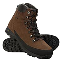 Mountain Warehouse Discovery Mens Extreme Isogrip Boots - Waterproof Rain Boots, Quick Dry Trekking Shoes, Nubuck Leather Hiking Boots - Footwear for Outdoor Use, Travel