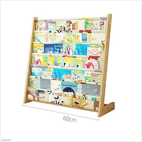 Bücherregale HUO Cartoon Massivholzboden Einfache Kindergarten Baby Regal (größe : B40CM) (Verstellbares Bücherregal)