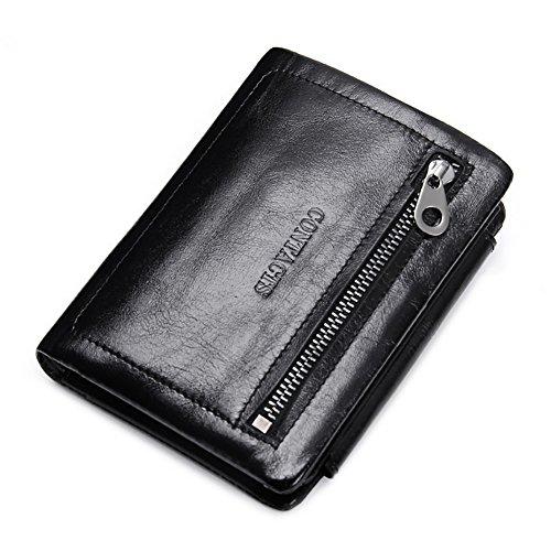 Preisvergleich Produktbild T-FBW Herrengeldbörse Herrenbrieftasche Kreditkarte Visitenkartenetui Leder Kurze Clutch Mode Lässig 30 Prozent Öl Wachs Leder Geldbörse