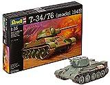 Revell Modellbausatz Panzer 1:35 - T-34/76 (model 1943) im Maßstab 1:35, Level 4, originalgetreue Nachbildung mit vielen Details, 03244
