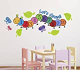 #4: Luke and Lilly Numbers,1,2,3 Design Vinyl Wall Sticker (115*45cm)
