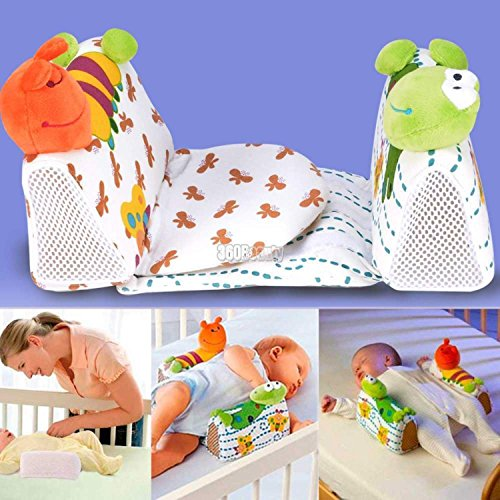 Baby-Infant-Safe-Sleep-Positioner-Prevent-Flat-Head-Shape-Anti-Roll-Pillow-Fixed