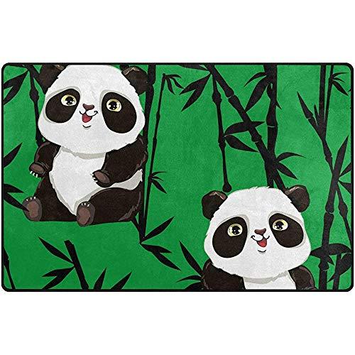 Eoka Indoor Moderne Teppiche Matten Panda Bambus Teppiche für Esszimmer Home Schlafzimmer, Teppichboden Matte