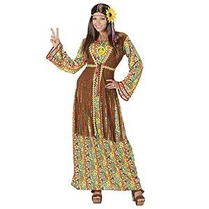 WIDMANN Disfraz de hippie para Mujer, Multicolor, XX-Large