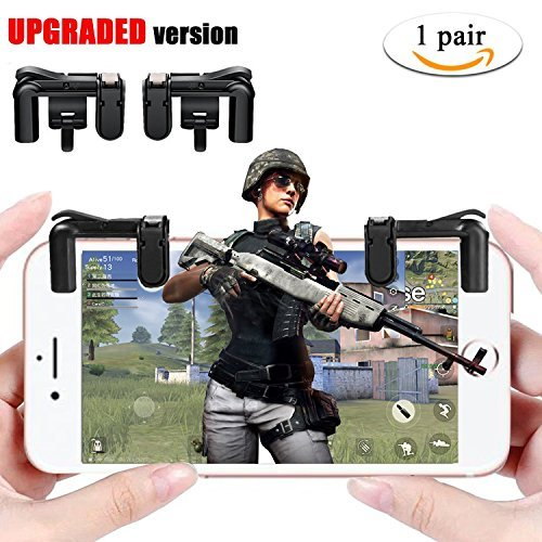 Mobile Game Controller (Neueste Version), vtosen empfindliche Shoot und Ziel Tasten L1R1Für pubg/Messer Out/fortnite/Rules of Survival, Handy Game Controller Joystick für Android & iPhone IOS Handy
