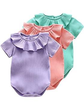 Bebone Baby Strampler Mädchen Overall Einfarbig Baby Kleidung