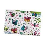 Klein Fotoalbum 10x15 Einsteckalbum 20 Fotos Mini Album 10 Seiten Weihnachtsgeschenk für Baby, Blume Muster
