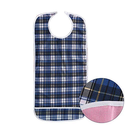 DOCA Erwachsenen Lätzchen für Senioren doppelte Schicht wasserdicht mit Displayschutzfolie wiederverwendbar Kleidungsschutz Lätzchen Schürze für ältere Männer Frauen
