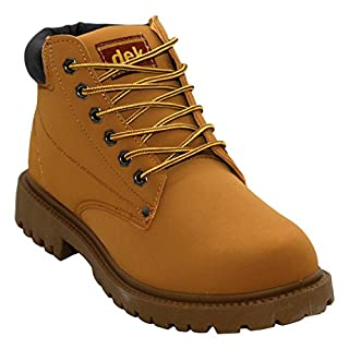 A&H Footwear Mens Gents Casual Lace Up Winter Warm Combat Hiking Work High Top Padded Collar Ankle Boots Shoes Sizes UK 6-12 (UK 9, Honey)