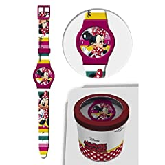 Idea Regalo - OROLOGIO MINNIE MOUSE DISNEY DA POLSO ANALOGICO CONF. CM 24 - 50579FUXIA