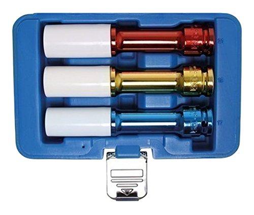 BGS 7100 Kraft-Schoneinsätze, 150 mm tief, 17-19-21 mm, 12,5 (1/2), 3-TLG