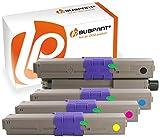Bubprint 4 Toner kompatibel für OKI 44469803 44469706 44469705 44469704 für C310DN C330DN C510DN C511DN C530DN C531DN MC352DN MC362DN MC561DN MC562DNW
