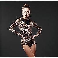 América dancewear / formación mono / Dance body manga larga abrigo , xxl , leopard