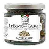 Le Bonta'del Casale Capperi al Sale - feine Salzkapern, 2er Pack (2 x 130 g)