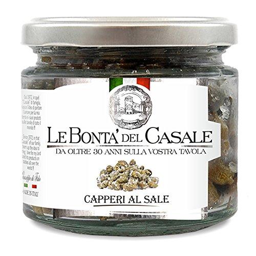 Le Bonta'del Casale Capperi al Sale - feine Salzkapern, 2er Pack (2 x 130 g) Test