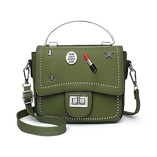 Toopot Borsa della borsa della borsa della borsa della borsa delle donne semplice borse della borsa della moda di modo borsa sveglie delle (ARMY GREEN) ARMY GREEN