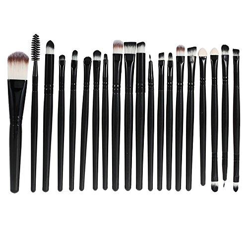 Anself 20Pcs Set de Brochas cosméticas para maquillaje facial profesional kit de pinceles cepillos de belleza con bolsa de franela