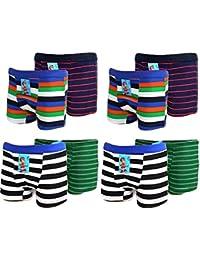 BestSale247 4   8   12 Stück Kids Jungen Boxershorts Unterhosen Uni Shorts Boy Unterwäsche Baumwolle 116 bis 178