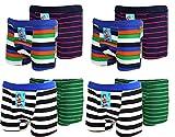 4 | 8 | 12 Stück Kids Jungen Boxershorts Unterhosen uni Shorts Boy Unterwäsche Baumwolle 116 bis 178