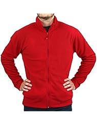 Veste micropolaire zippée rouge ROUGE XL