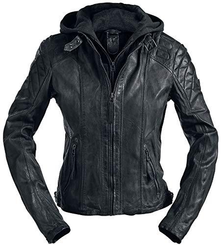 Gipsy Damen Lederjacke Chasey LDDV, Gr. 36 (Herstellergröße: S), Schwarz (black 1)