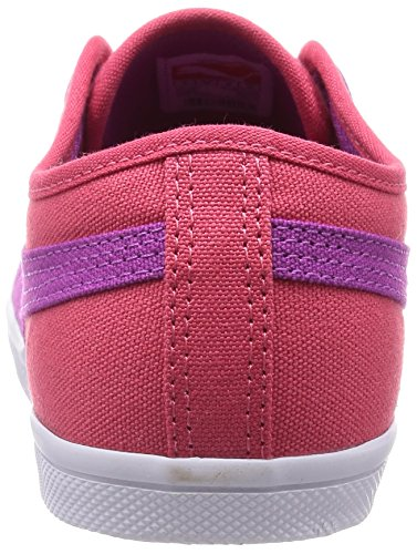 Puma Elsu F Canvas Jr, Sneakers basses mixte enfant Rouge - Rot (geranium-vivid viola 04)