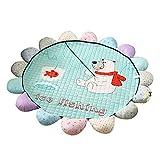 LCDY Baumwoll-Kindermatten Raumklettermatten Faltbare Babyspielmatten Yogamatten Cartoon-Muster Geschenke für Kinder,Green,180 * 150CM