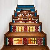 Treppenaufkleber weihnachten Verkleiden Sich Hell Dekoriert Cottage Home Decor Sticker Treppen Schritt Dekoration 18CM*100CM * 13 Teile/Set