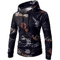 Moonuy Männer Langarm-Kapuzenpullover Mann Slim Sweatshirt 2018 Laufen Printed Hooded Top Tee Outwear Bluse Windcoat