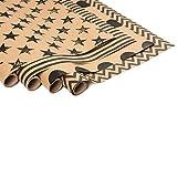 ewtshop® 4 x Geschenkpapierrollen aus Kraftpapier bedruckt