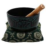 RoyaltyRoute buddhistischen Gesang Schalen Meditation und Yoga Zuhause dekorative tibetischer Gong Schüssel 15,2 CM