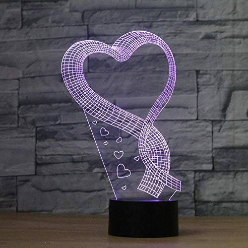 Romantik Liebe geformt handgemachte 3D Bulbing Illusion Lampe führte Stimmung Licht Valentine...