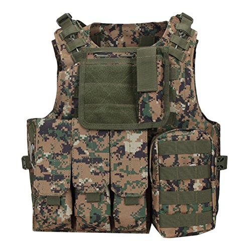 Zhhlinyuan Adjustable Hunting Molle Style Cs Field Outdoor Equipment Taktisch Vest Combat Training Vest (Combat Training-equipment)