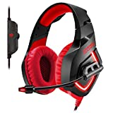 Empire Gaming H1100 - Cuffia Gamer Multipiattaforma Audio stereo altadefinizione, micro-flessibile e auricolari con retroilluminazioneLED Rosso. USB compatibile PC e console PS4 / XBOX ONE*